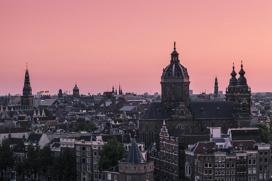 Afterglow Photograph - Amsterdam 02 by Tom Uhlenberg