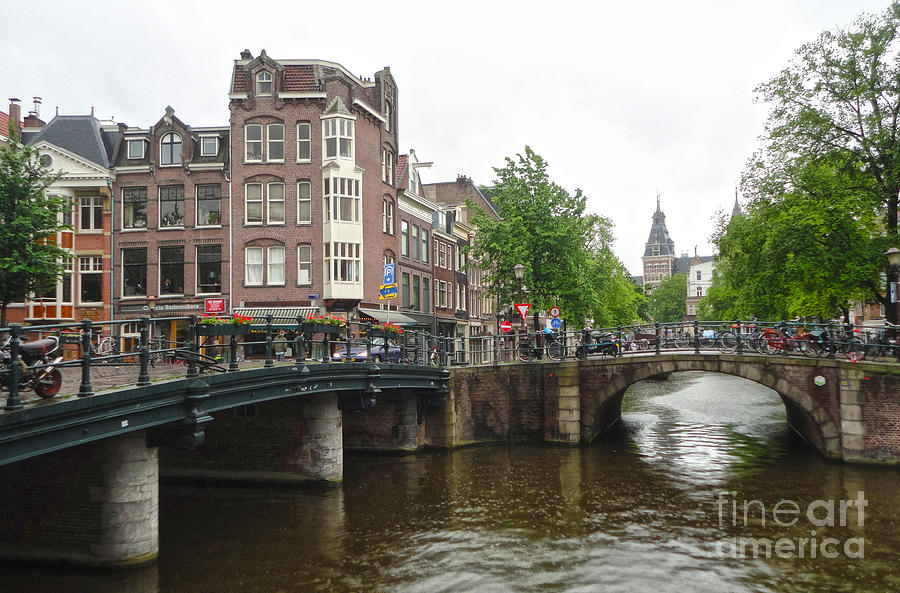 Amsterdam Photograph - Amsterdam Bridge - 02 by Gregory Dyer