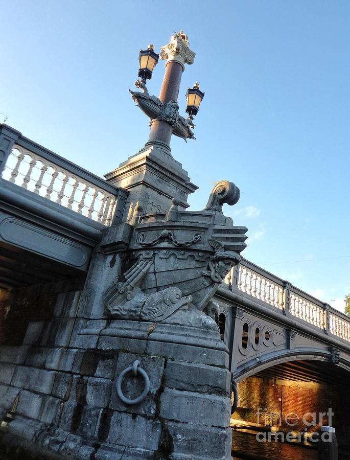 Amsterdam Photograph - Amsterdam Bridge Detail by Gregory Dyer