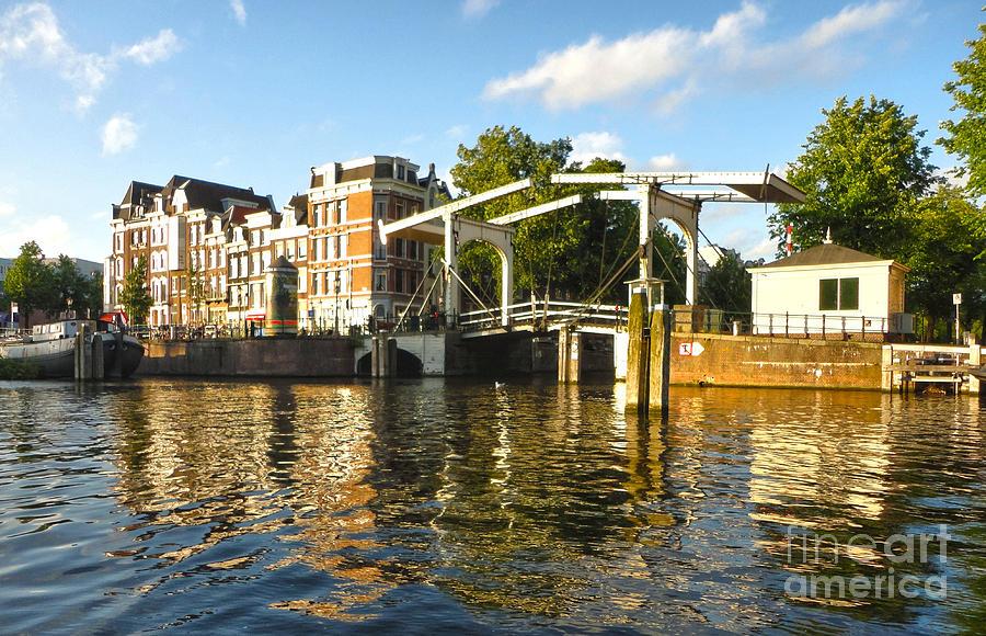 Amsterdam Photograph - Amsterdam Canal Drawbridge - 03 by Gregory Dyer