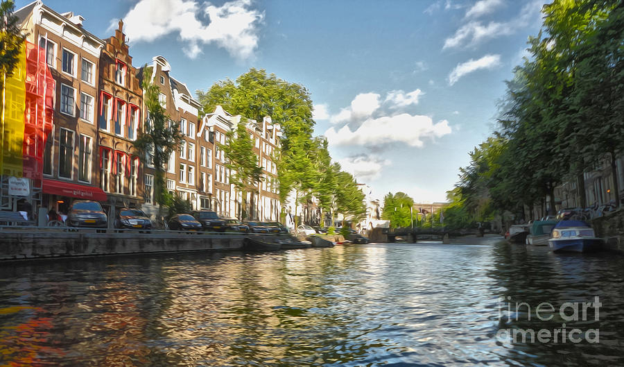 Amsterdam Photograph - Amsterdam Canal by Gregory Dyer