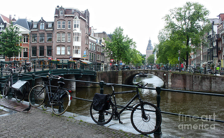 Amsterdam Photograph - Amsterdam Canal View - 04 by Gregory Dyer