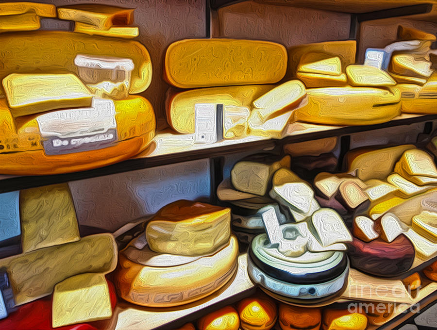 Amsterdam Painting - Amsterdam Cheese Shop by Gregory Dyer