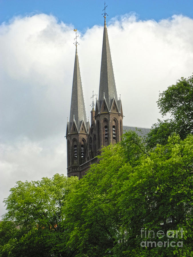 Amsterdam Photograph - Amsterdam De Krijtberg Church by Gregory Dyer