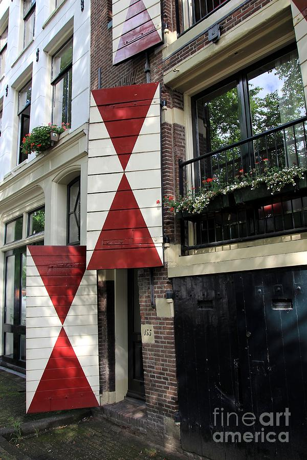 Amsterdam Photograph - Amsterdam House Facade by Sophie Vigneault