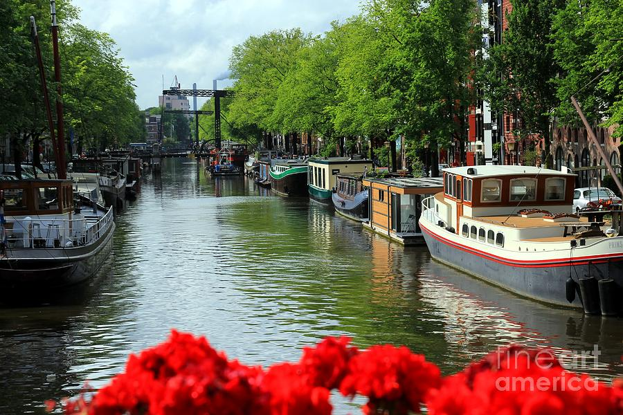 Amsterdam Photograph - Amsterdam Summer Scene by Sophie Vigneault