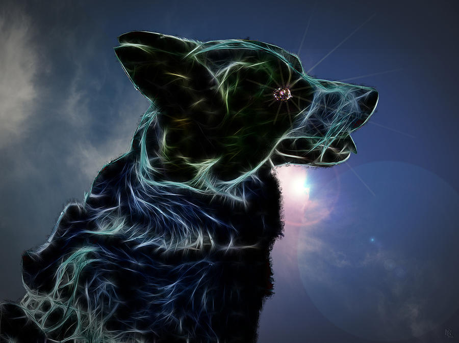 Dog Digital Art - Amy by Nafets Nuarb
