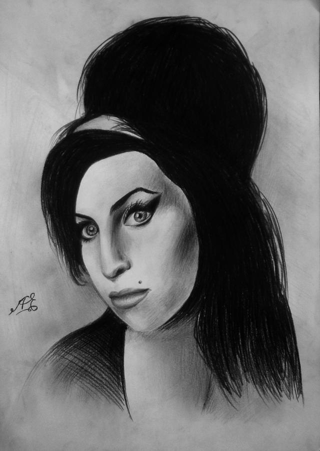 Amy Winehouse Drawing By Armen Egoryan