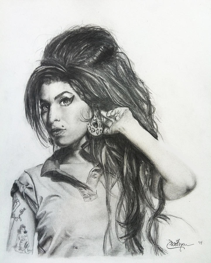 Amy Winehouse Tribute Drawing By Eric Witman
