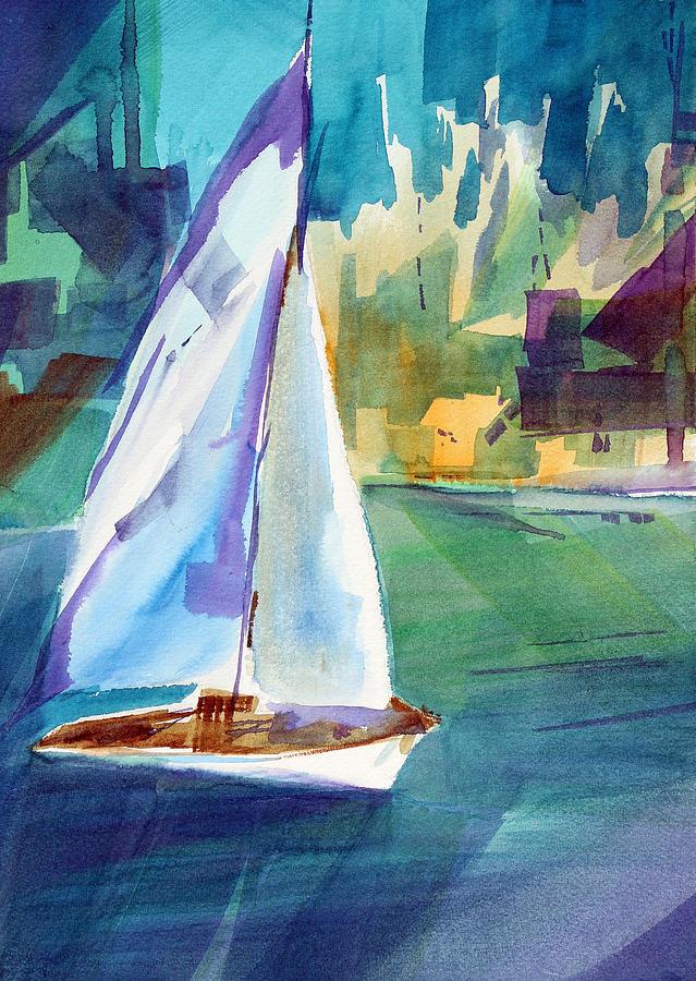 Sailboat Painting - Amys Boat. by Josh Chilton