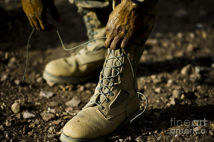 Tying Photograph - An Air Force Basic Military Training by Stocktrek Images