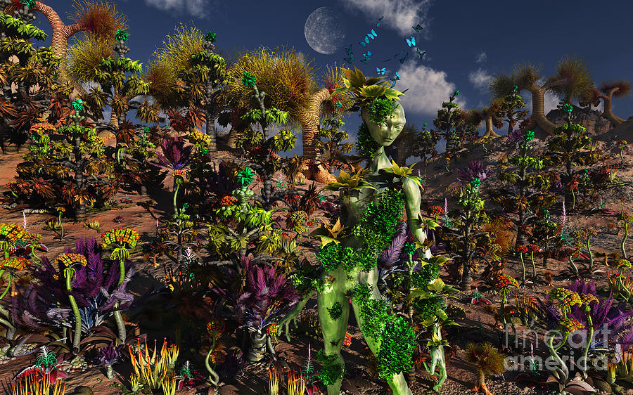 No People Digital Art - An Alien Being Blending by Mark Stevenson
