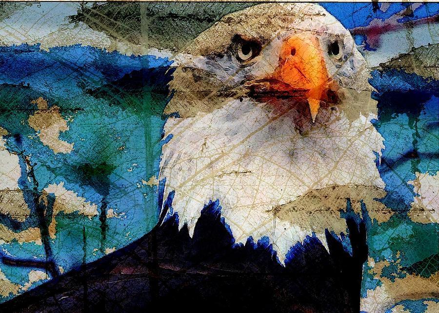 Bald Eagle Digital Art - American Bald Eagle by Carrie OBrien Sibley