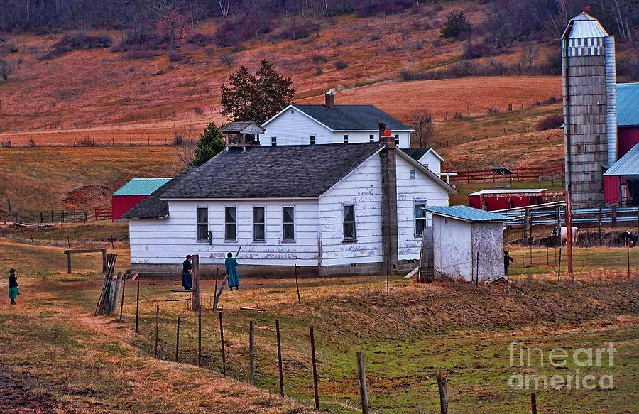 Amish Photograph - An Amish Farm by Tommy Anderson