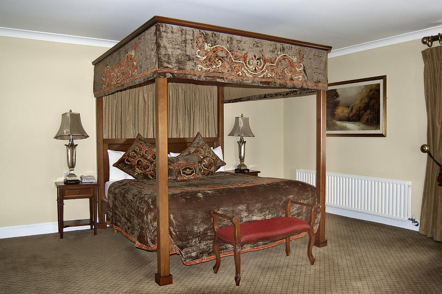 Luxury Photograph - An Antique Style Four Poster Bed by Will Burwell