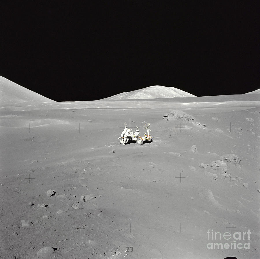 Color Image Photograph - An Astronaut Working At The Lunar by Stocktrek Images