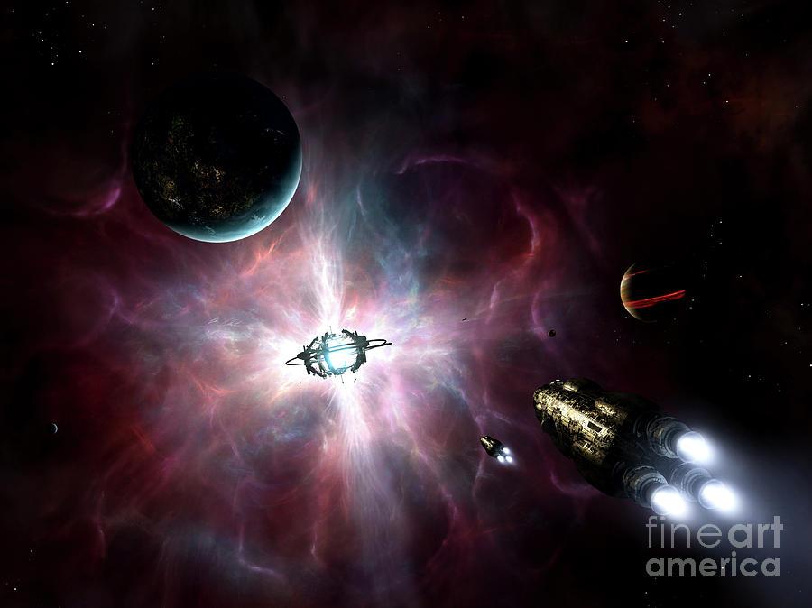 Artwork Digital Art - An Enormous Stellar Power by Brian Christensen