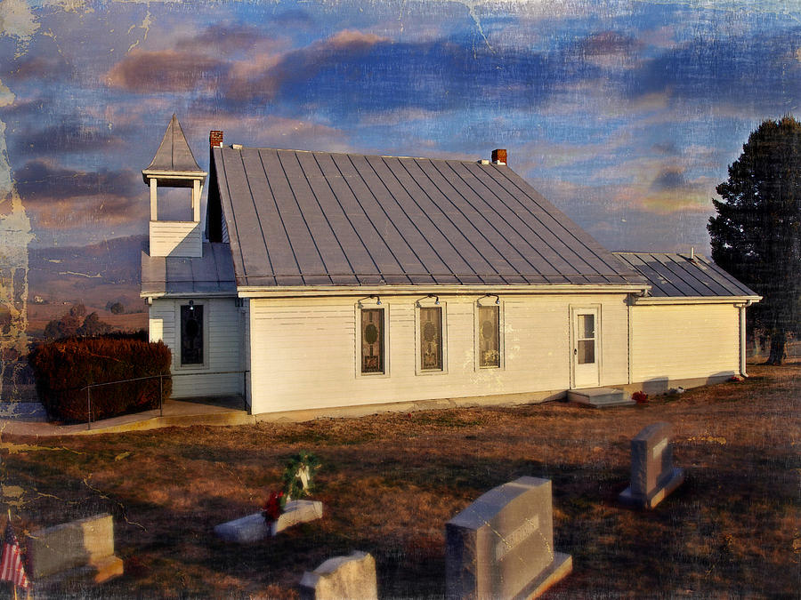 Church Photograph - An Evening At Mcelwee Chapel by Kathy Jennings
