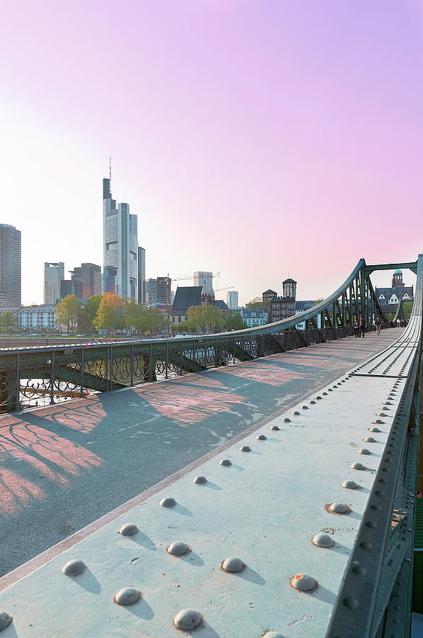 Vertical Photograph - An Evening In Frankfurt. by Ixefra