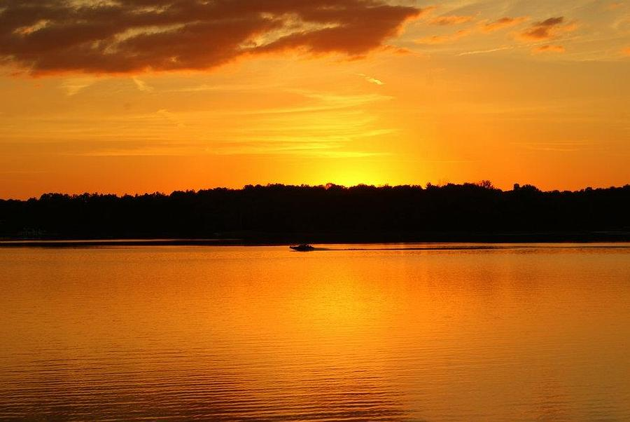 Patoka Lake Photograph - An Evening Ride At Patoka by Brandi Allbright