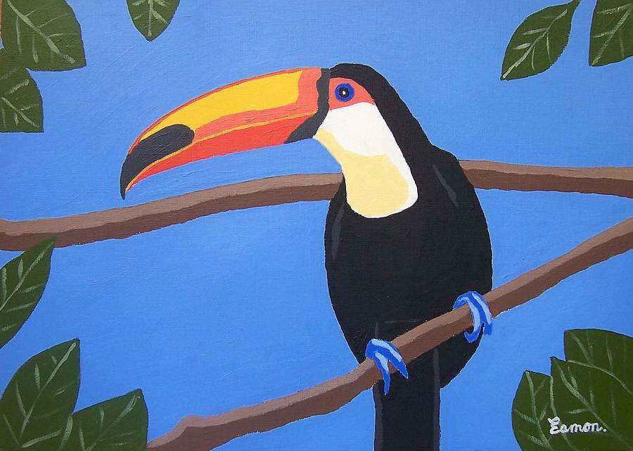 Toucan Painting - An Exotic Bird If Ever I Saw One by Eamon Reilly