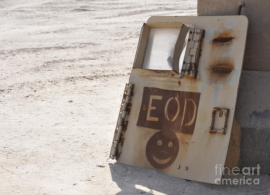 Iraq Photograph - An Explosive Ordnance Disposal Logo by Stocktrek Images