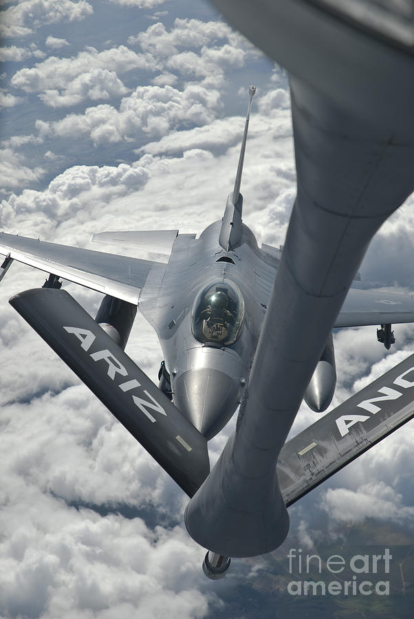 Transportation Photograph - An F-16 From Colorado Air National by Giovanni Colla