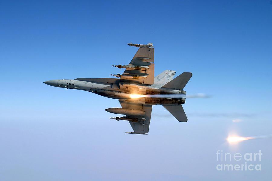 An Fa-18c Hornet Aircraft Tests Photograph
