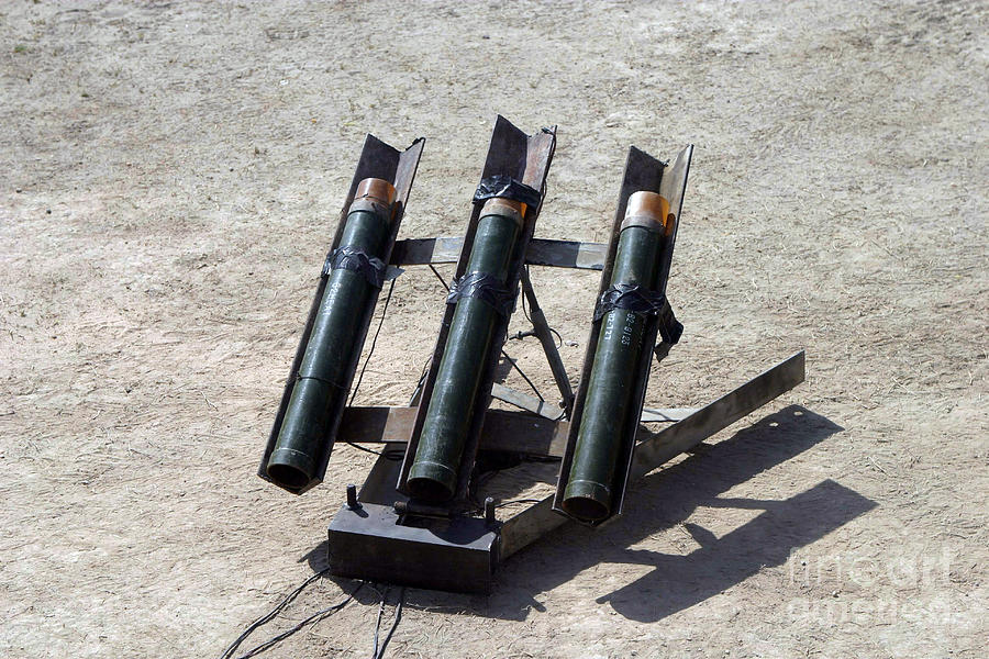 Color Image Photograph - An Improvised Rocket Launcher Used by Stocktrek Images