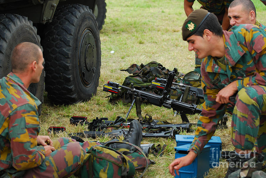 Belgium Photograph - An Infantry Unit Of The Belgian Army by Luc De Jaeger
