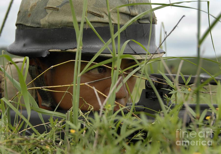 An Infantryman With The Royal Thai Photograph