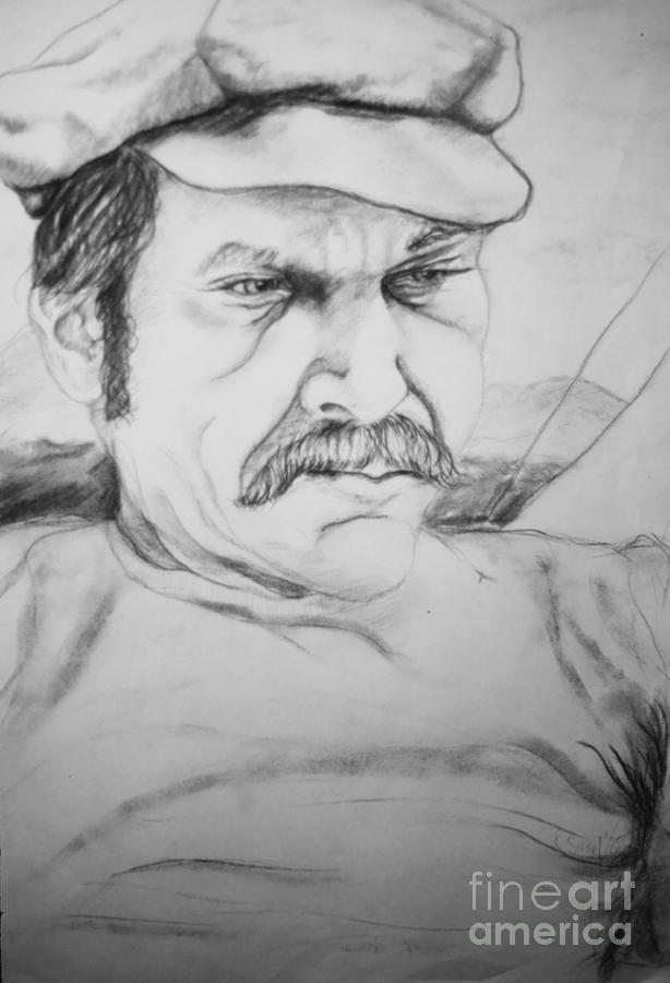 Portrait Drawing - An Inward Sea by Rory Sagner