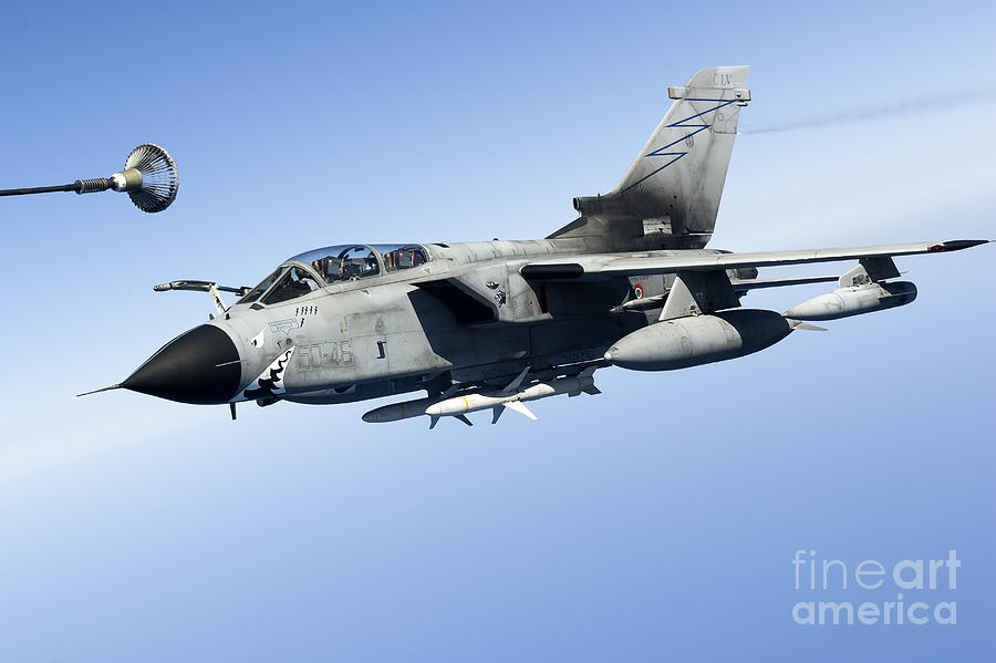 50 Stormo Photograph - An Italian Air Force Tornado Ids by Gert Kromhout
