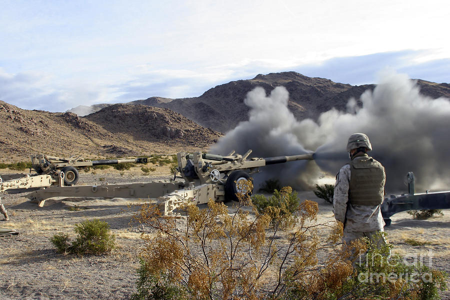Adults Only Photograph - An M198 Howitzer Fires A 155-millimeter by Stocktrek Images