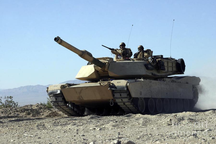 Adults Only Photograph - An M1a1 Main Battle Tank by Stocktrek Images