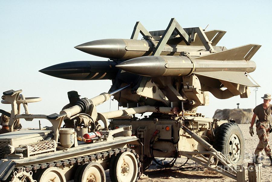 An Mim-23b Hawk Surface-to-air Missile Photograph by