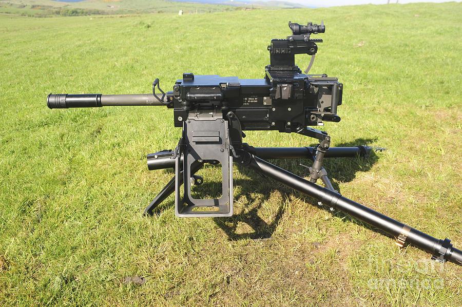 Tripod Photograph - An Mk19 40mm Machine Gun by Andrew Chittock