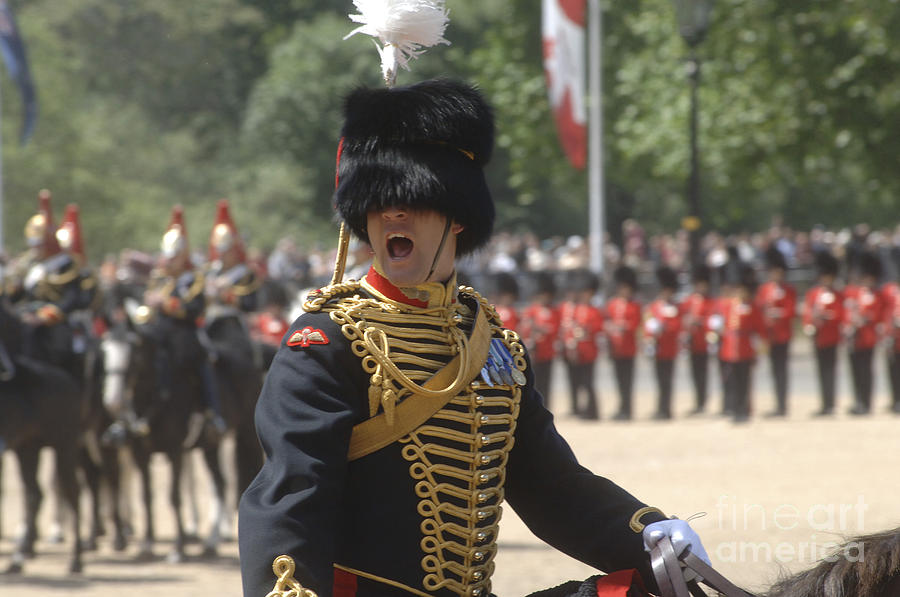 British Army Photograph - An Officer Shouts Commands by Andrew Chittock