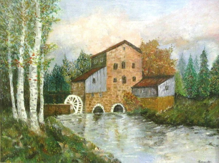 An old house by the forest oil painting painting by for Oil paintings for the home