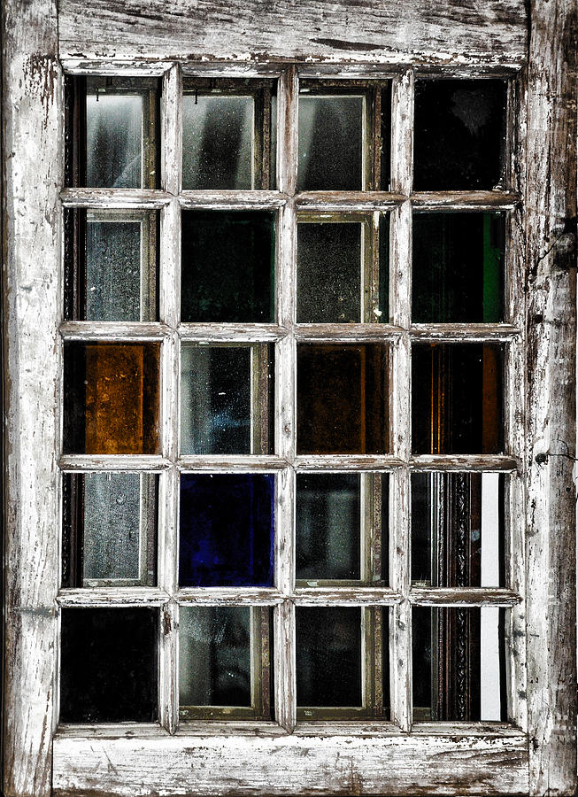 An Old Window Pane Photograph By Bill Cannon