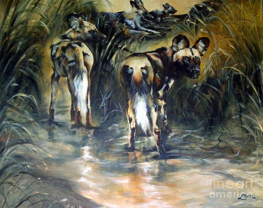 Africa Painting - An Ounce Of Extinction. by Estelle Hartley