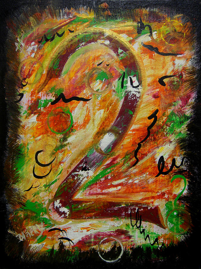 Expressionist Painting - An Uncertain Relationship by Donna Blackhall