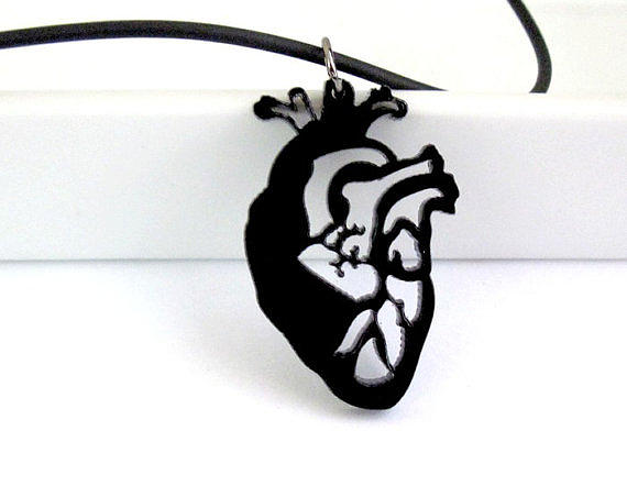 Jewelry Jewelry - Anatomical Heart Unisex Pendant Necklace by Rony Bank
