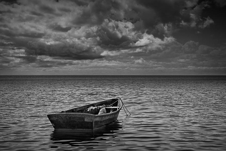 Well-liked Anchored Row Boat Looking Out To Sea Photograph by Randall Nyhof PQ75