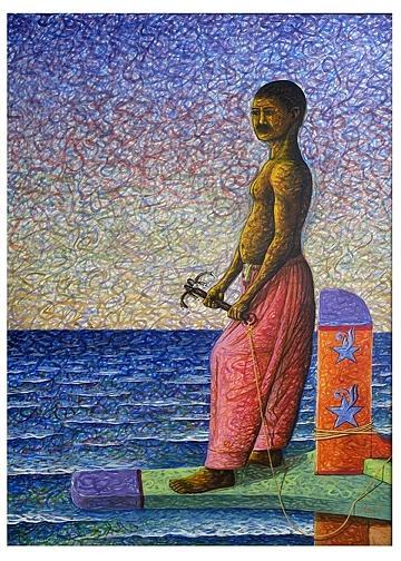 Anchorman Painting by Muhammad Arshad Khan MAK
