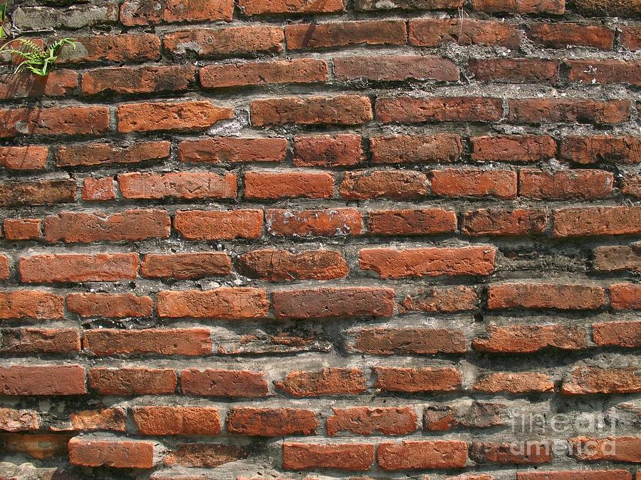 Brick Photograph - Ancient Brick Wall by Yali Shi