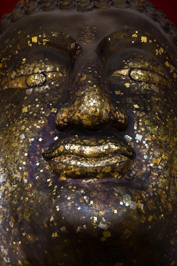 Ancient Ceramic Art - ancient Buddha face Ayutthaya Thailand  by Wasan Gredpree