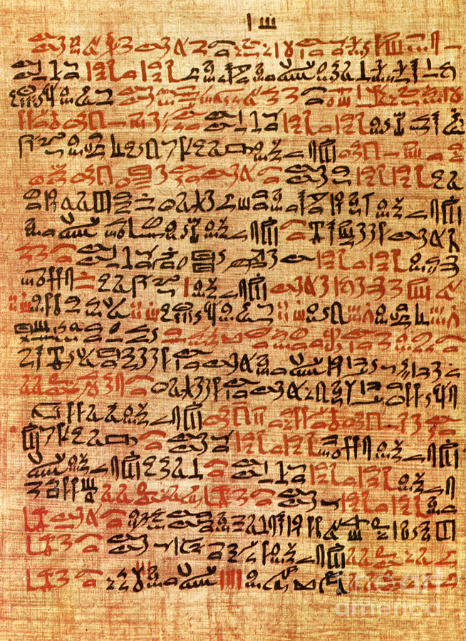 Ancient Egyptian Ebers Medical Papyrus Photograph by