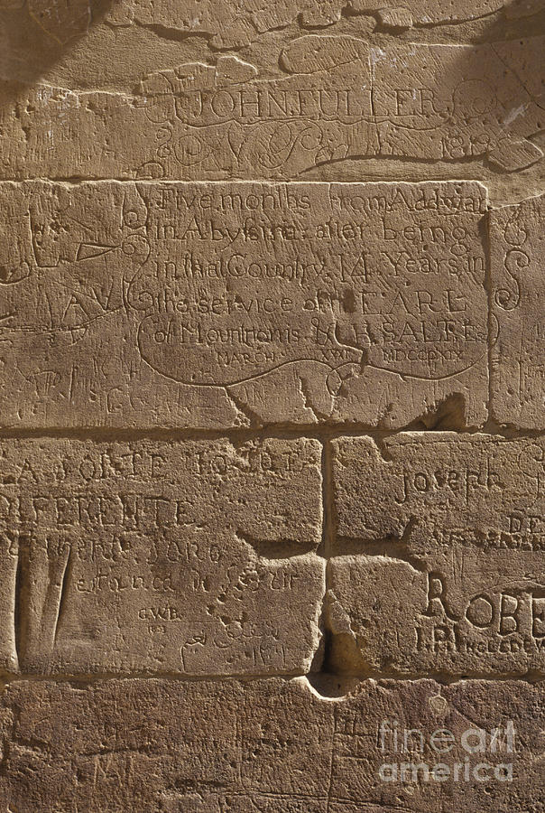 Africa Photograph - Ancient Hieroglyphics by Adam Crowley