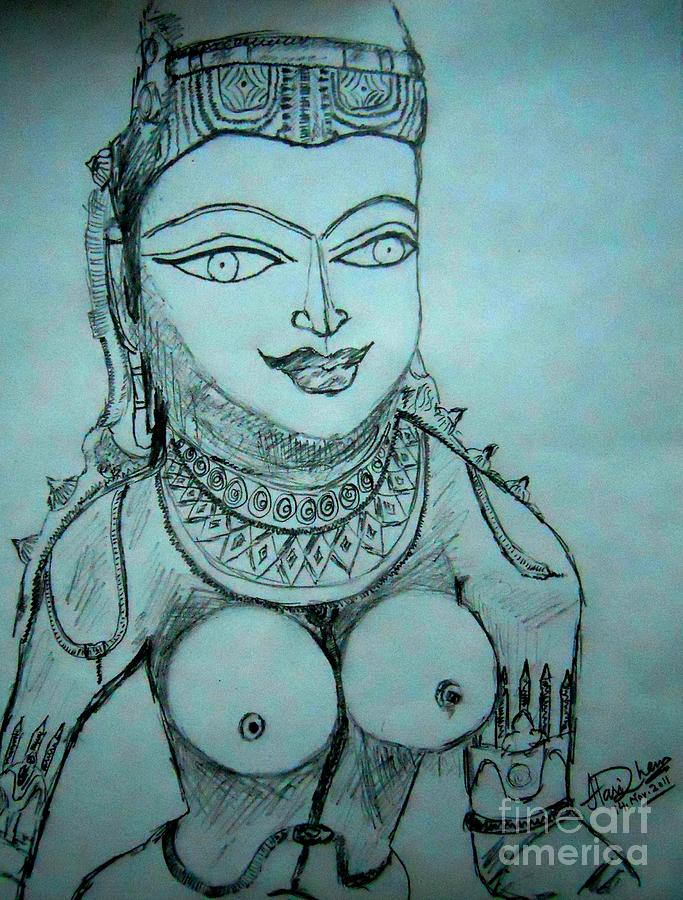 India Drawing - Ancient Indian Sculpture by Hari Om Prakash